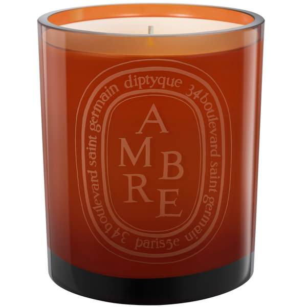 Ambre Colored Scented Candle