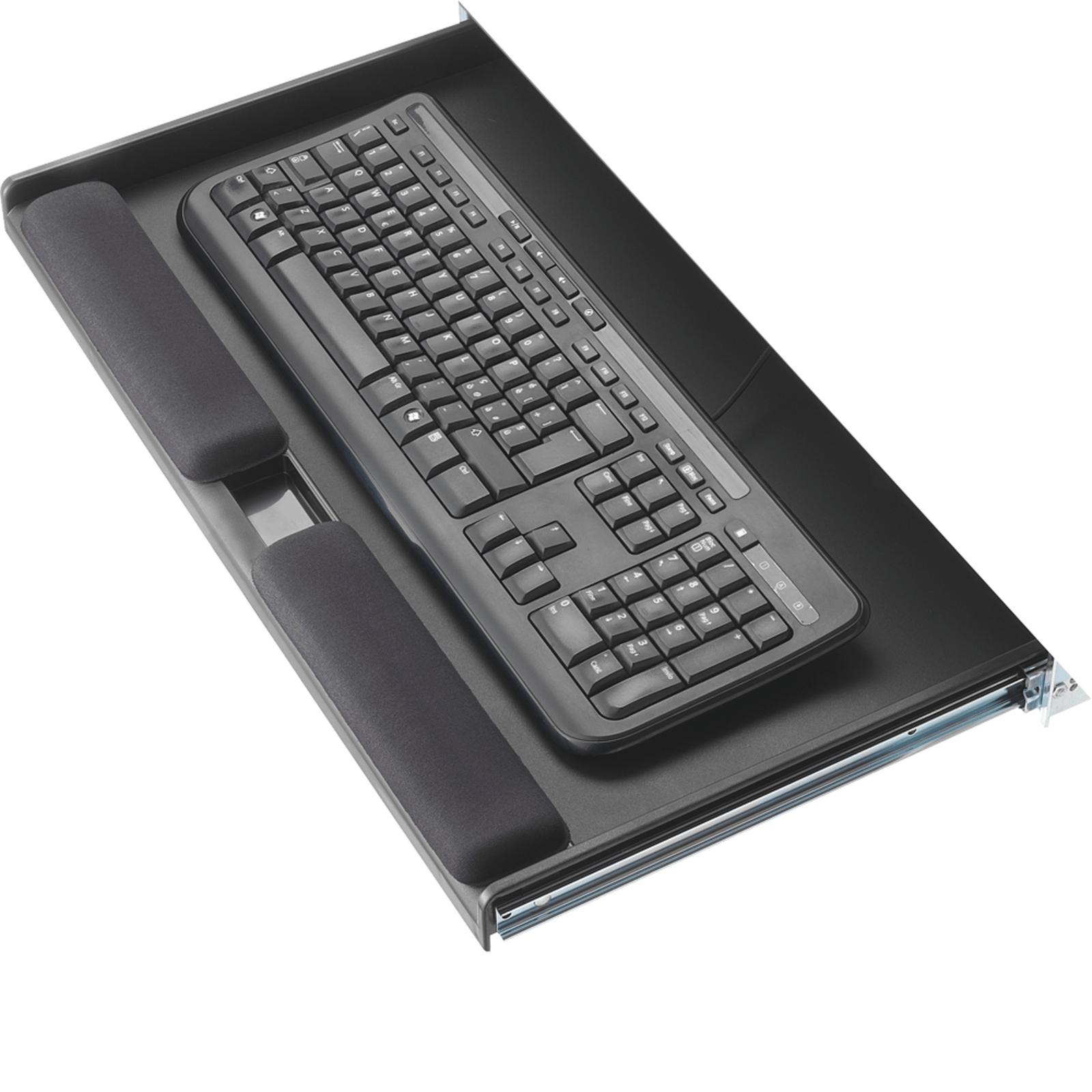 5 star untertisch tastaturschublade mit handgelenkauflage for Schreibtischplatte schwarz