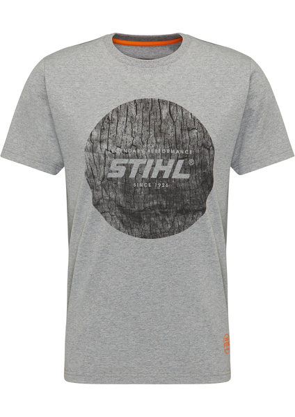 T-Shirt WOOD CIRCLE - Grau