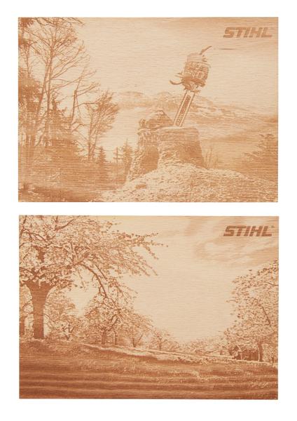 Holzpostkarten- Set