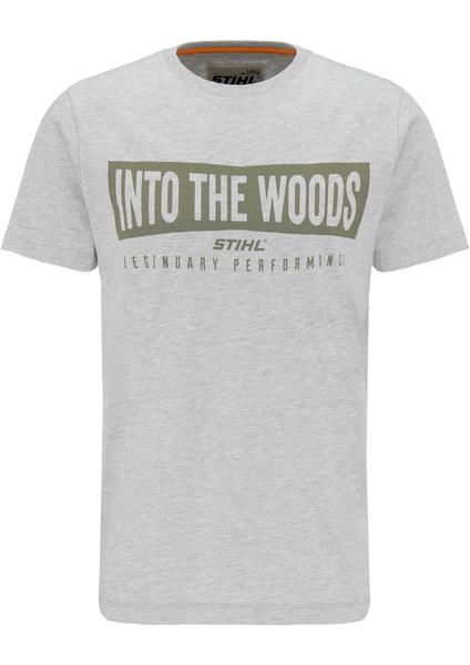 T-Shirt WOOD - Grau