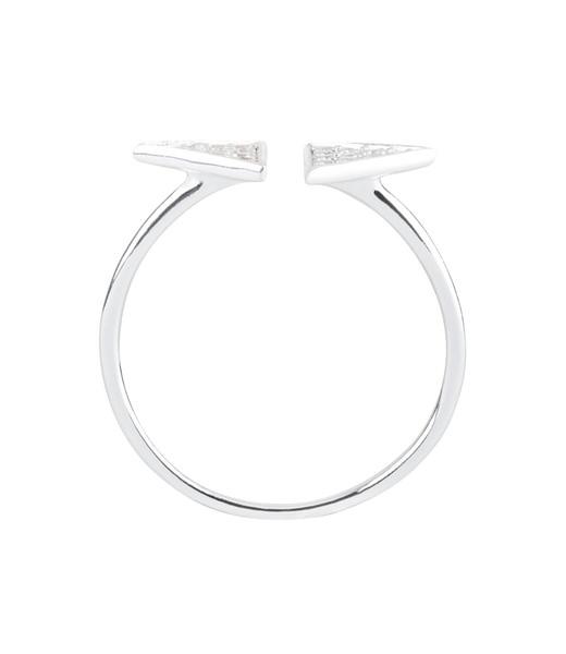 925er Silber Ring mit Zirkoniastein Gr. 54