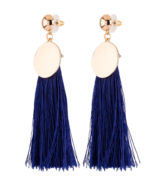 Blaue Quasten Ohrringe