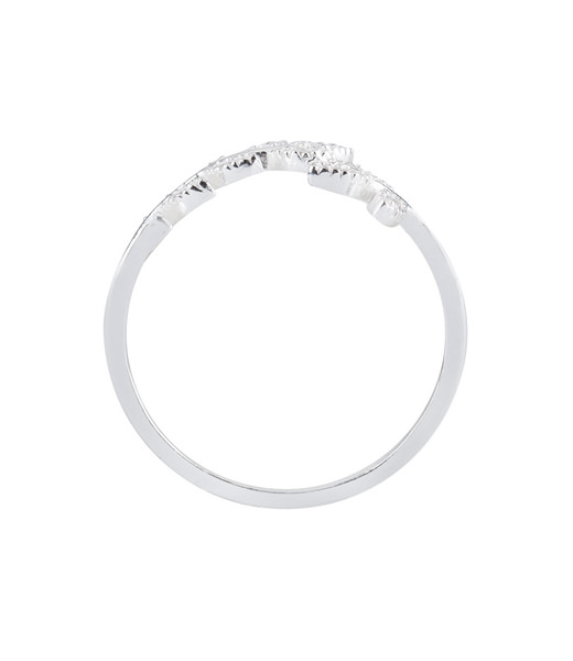 925er Silber Ring mit Blatt Gr. 52
