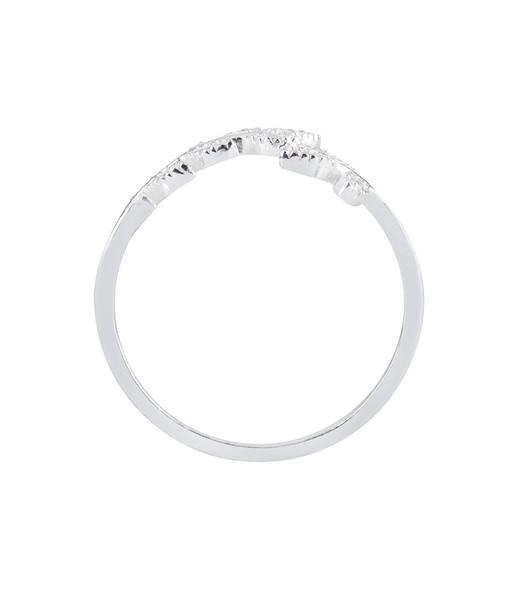 925er Silber Ring mit Blatt Gr. 54