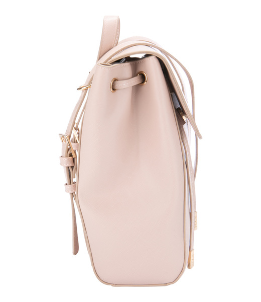 Leatherette Backpack in light pink