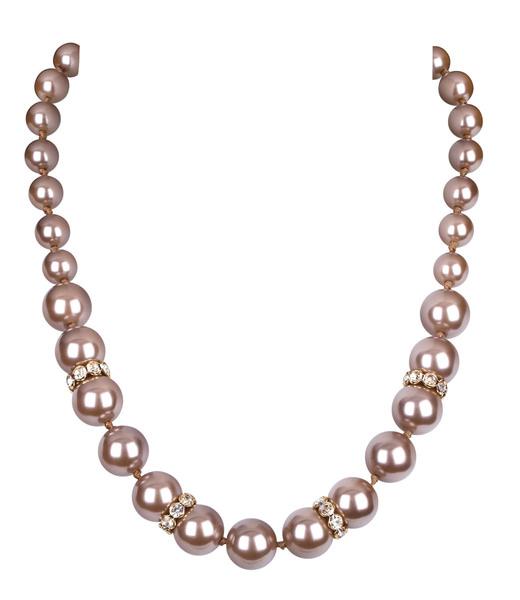 Perlenkette mit Strass-Ringen