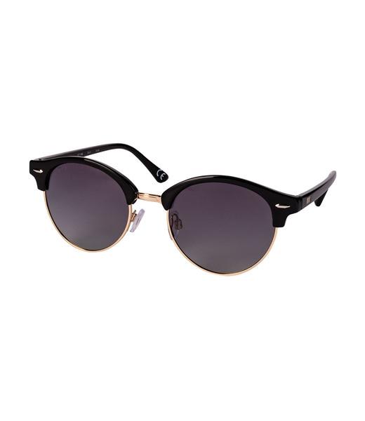 Clubmaster Sonnenbrille in Schwarz