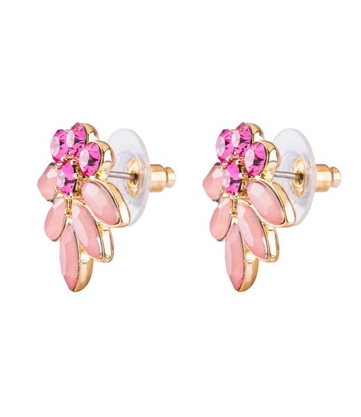 Ohrstecker mit rosa Swarovski-Kristallen