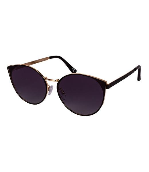 Zarte schwarze Sonnenbrille