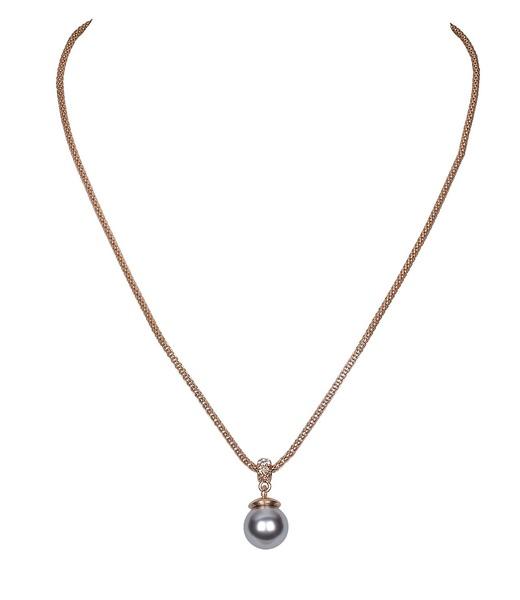 Kette mit Perle und Swarovski-Kristall