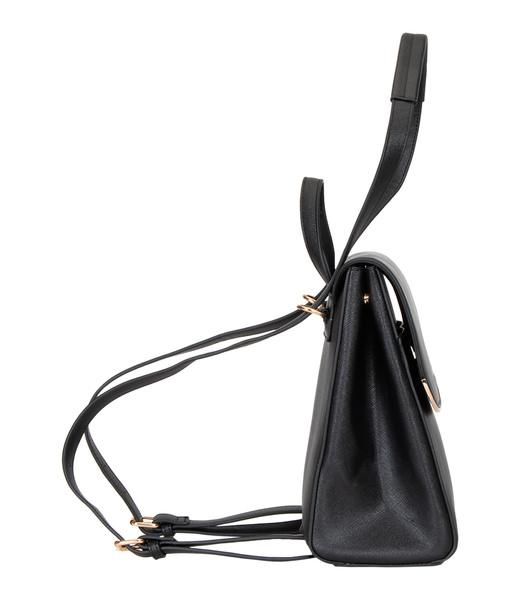 Schwarzer Rucksack aus Kunstleder