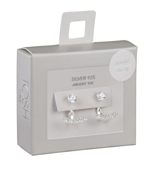 925er Silber Ear-Jacket Ohrring mit Zirkoniasteinen