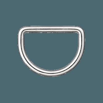 wuuycoky Silber D Ringe Schnallen D-Ring nicht verklebte f/ür Gurtband Umreifung 7/Gr/ö/ße Optional Inner Diam:0.5,Inner height:0.35,100Pcs