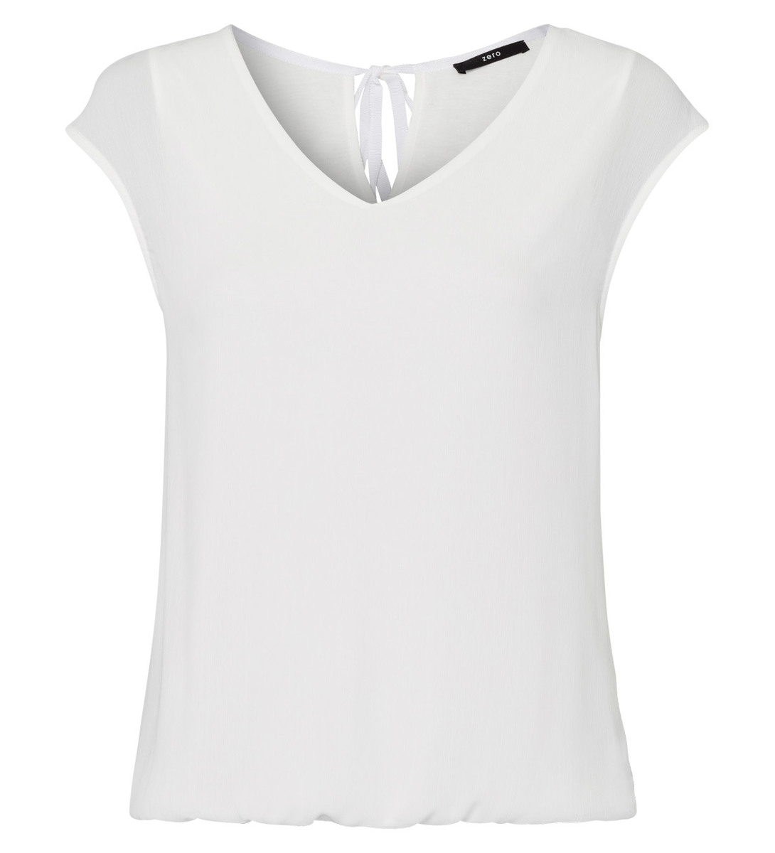 Chiffonbluse mit Bindedetail in offwhite