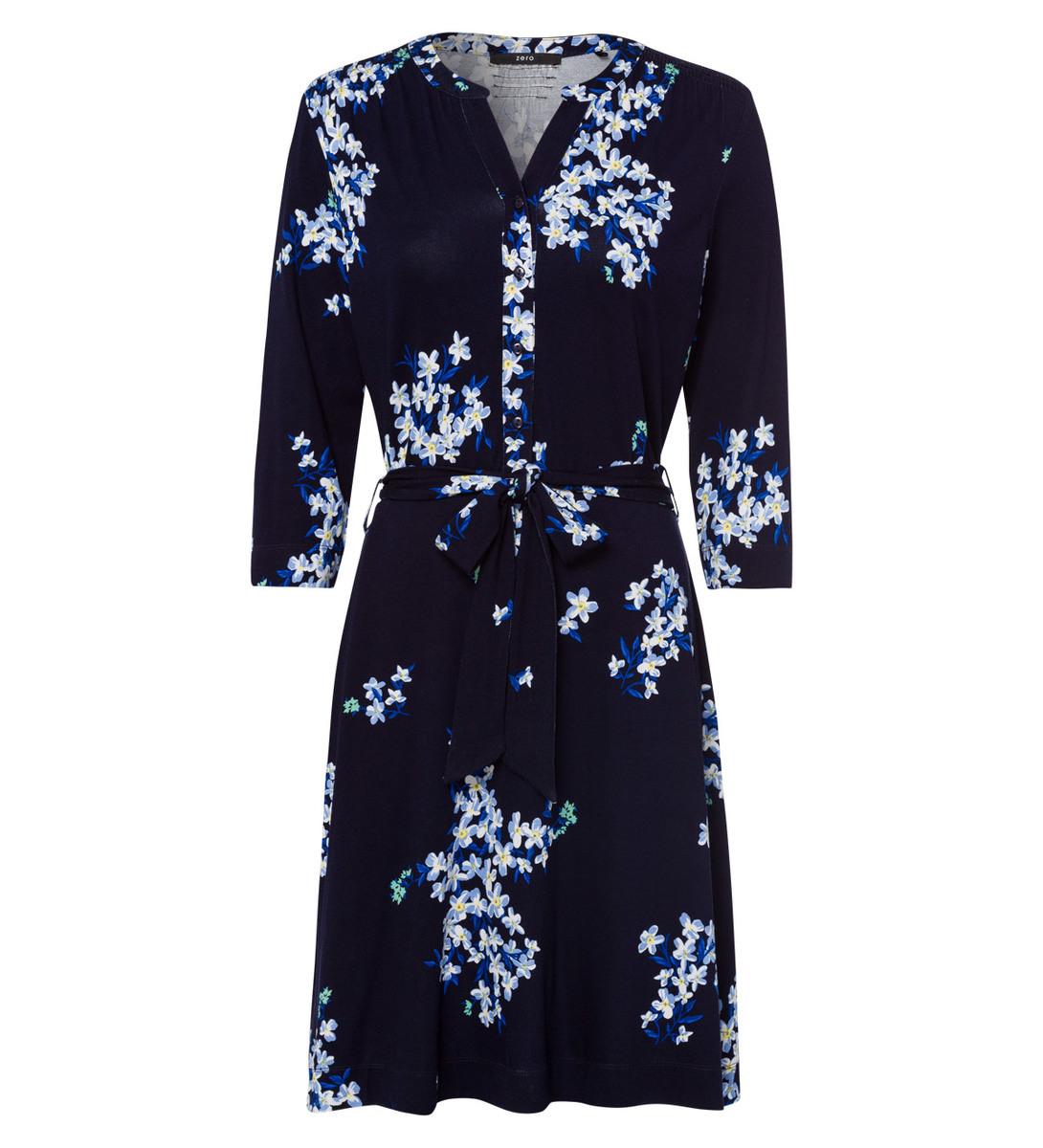 Kleid mit Blütenmuster in blue black