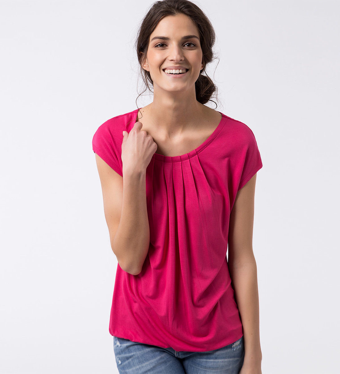 T-Shirt Rike in bright pink