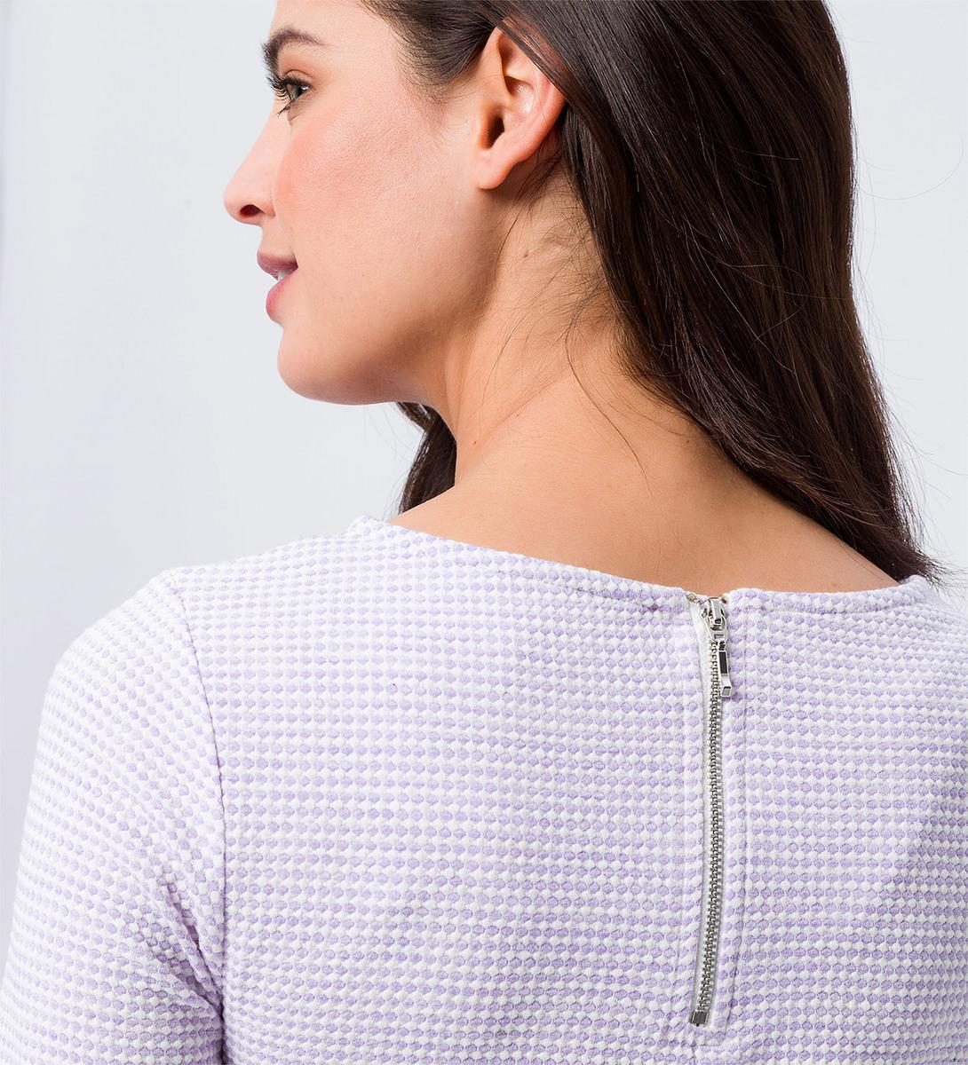 Shirt mit Minimal-Muster in lavender