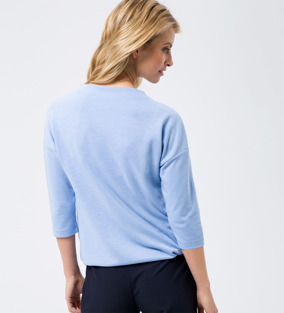 Sweatshirt mit 3/4-Ärmeln in blue