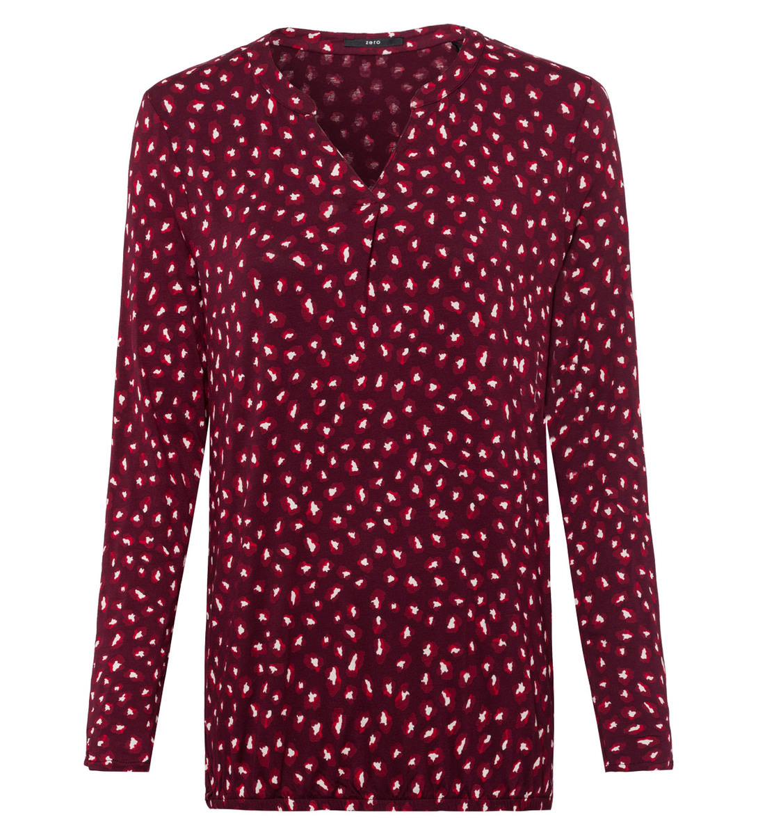 Shirt mit Alloverprint in grape red