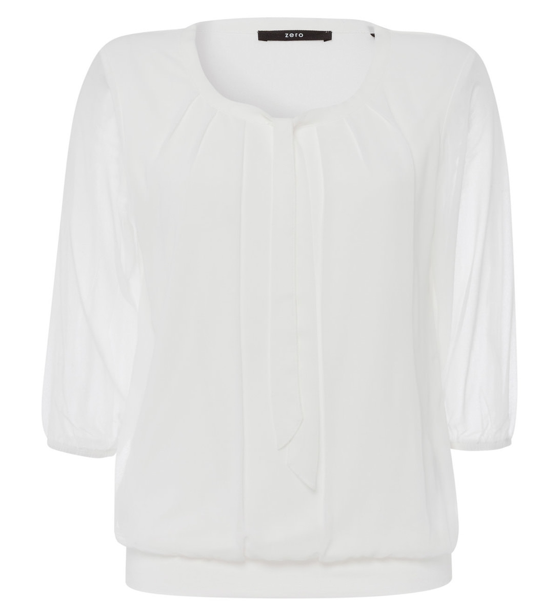 Bluse mit Schluppenkragen in offwhite