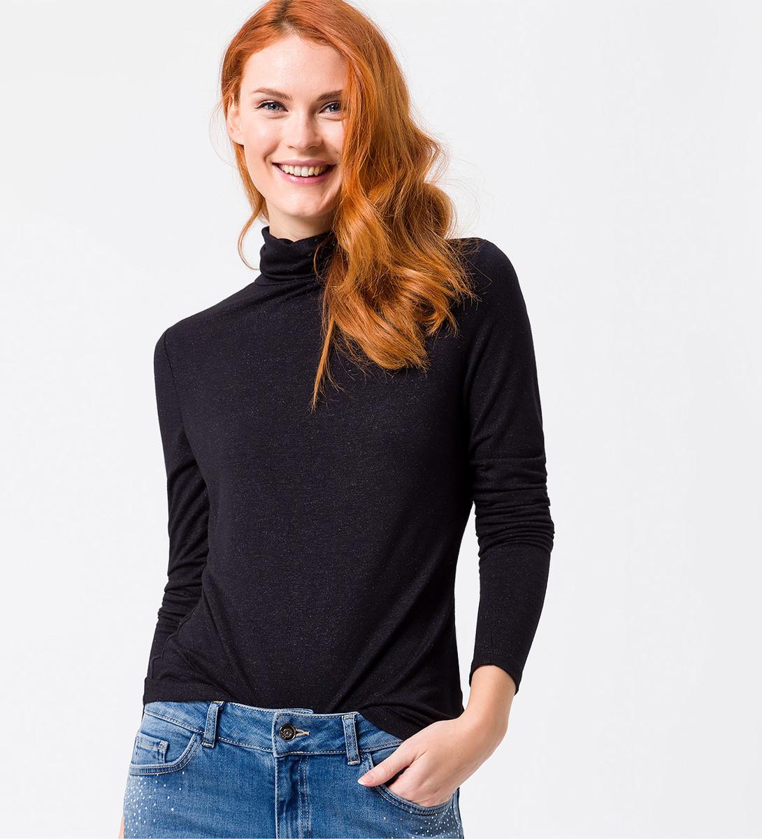 Shirt mit Glitzereffekt in black