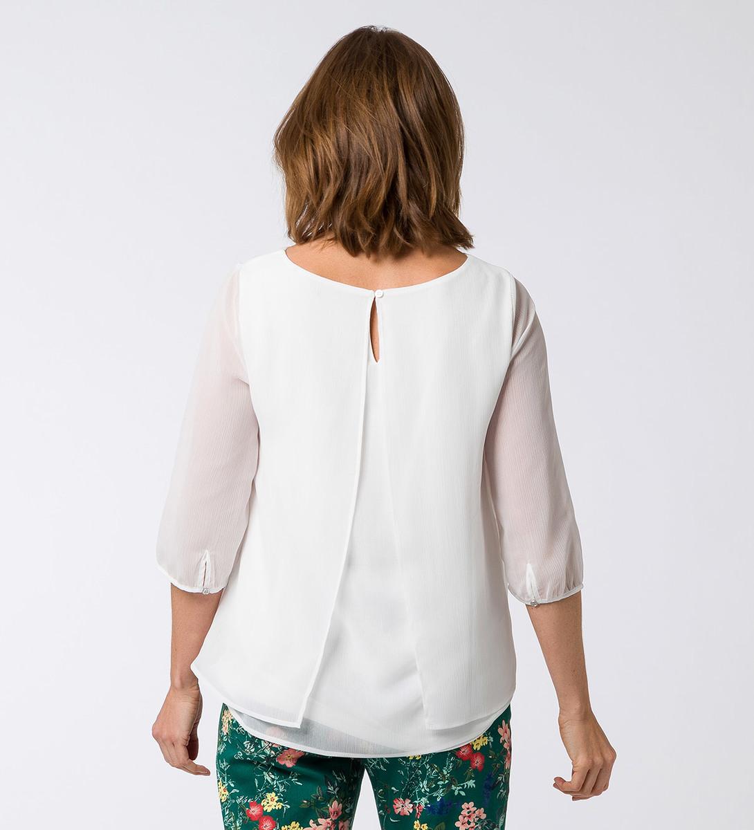 Bluse im Lagen-Look in offwhite