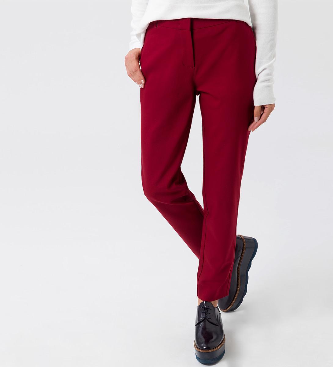 Hose im unifarbenen Design in wine red