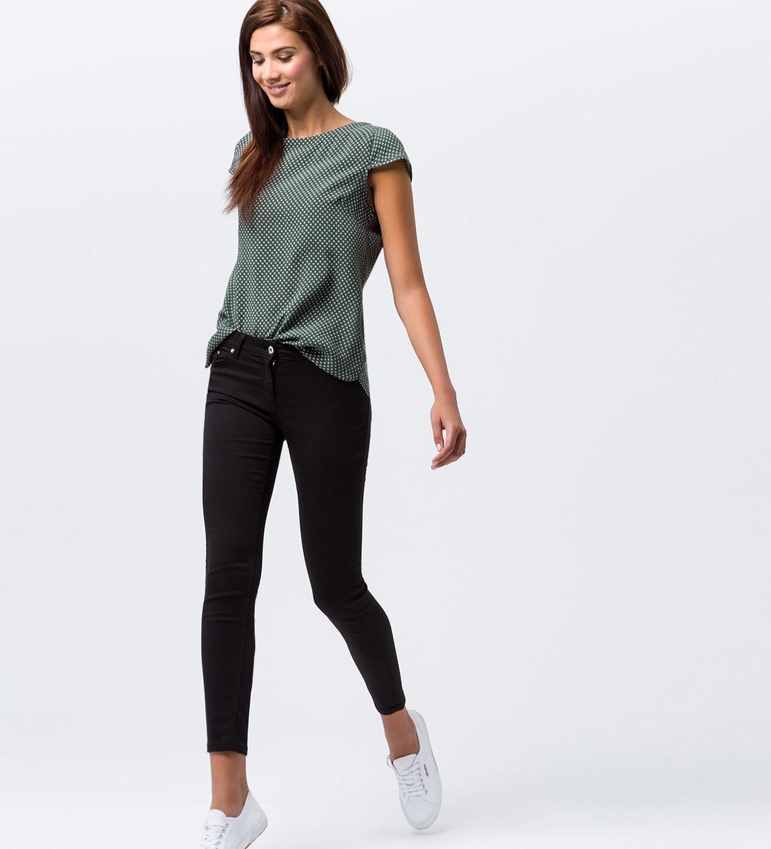 Hose im Five-Pocket-Design in black