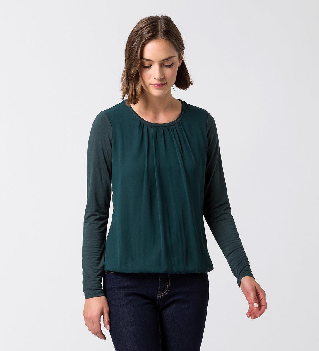 Blusenshirt Selma in deep green