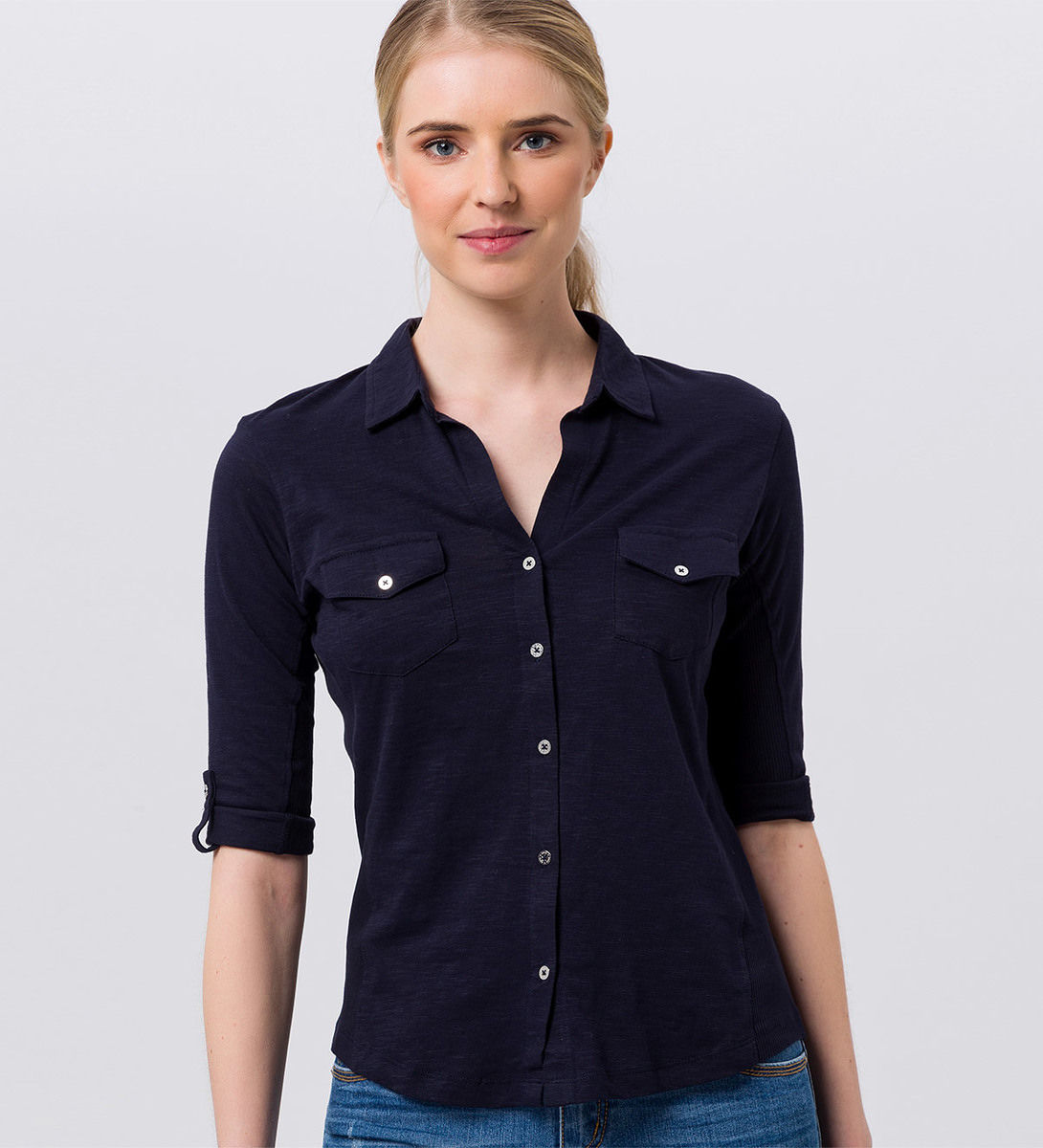 Shirt mit Hemdkragen in blue black