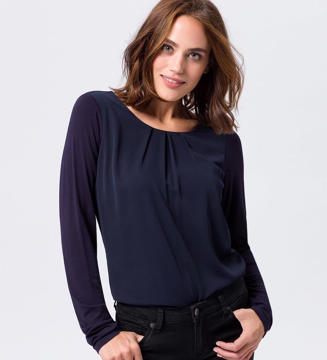 Blusenshirt in blue black