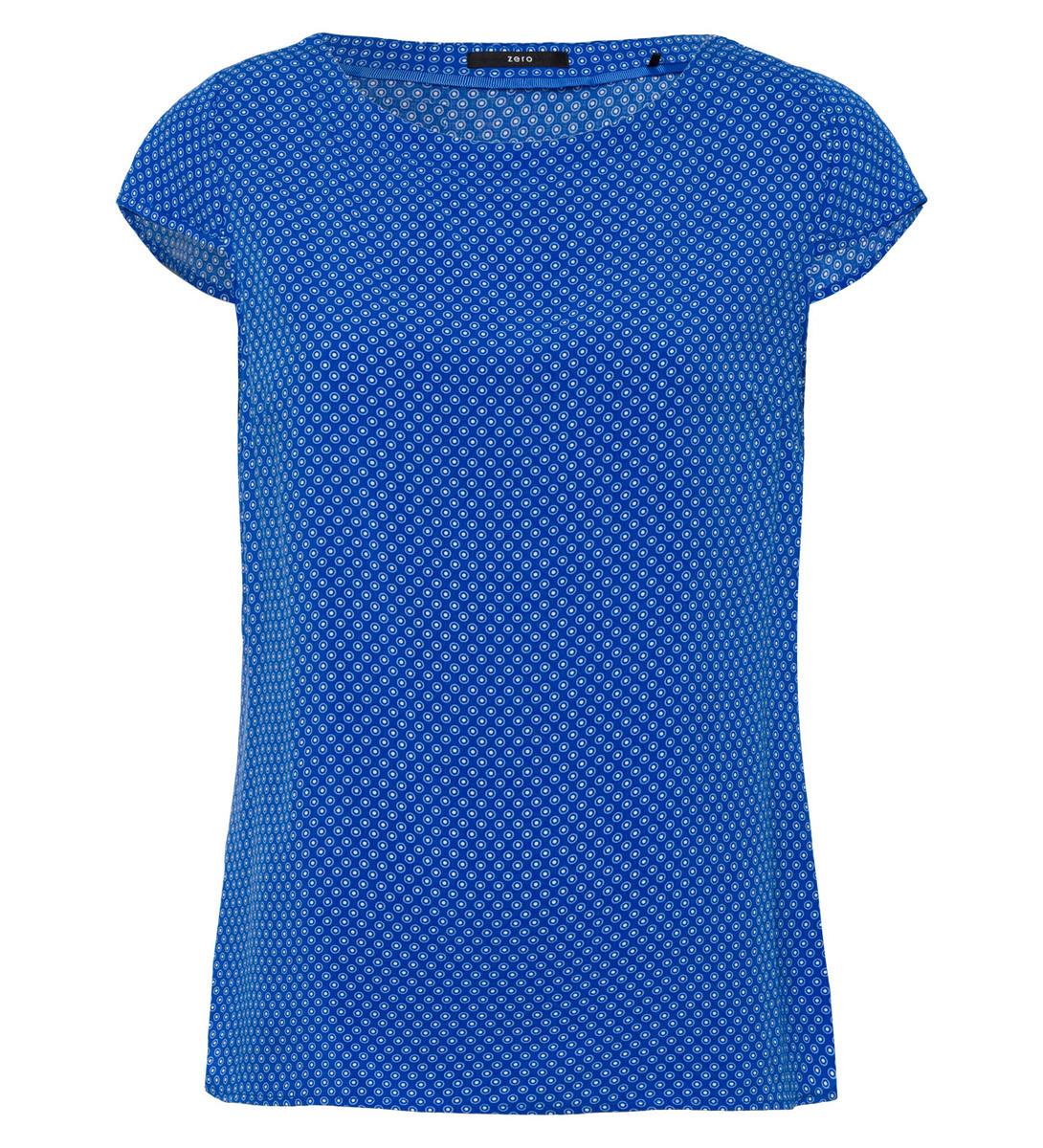 Bluse mit Flügelärmeln in cobalt blue