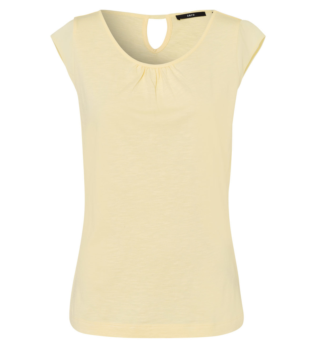 Top mit Keyhole-Design in yellow