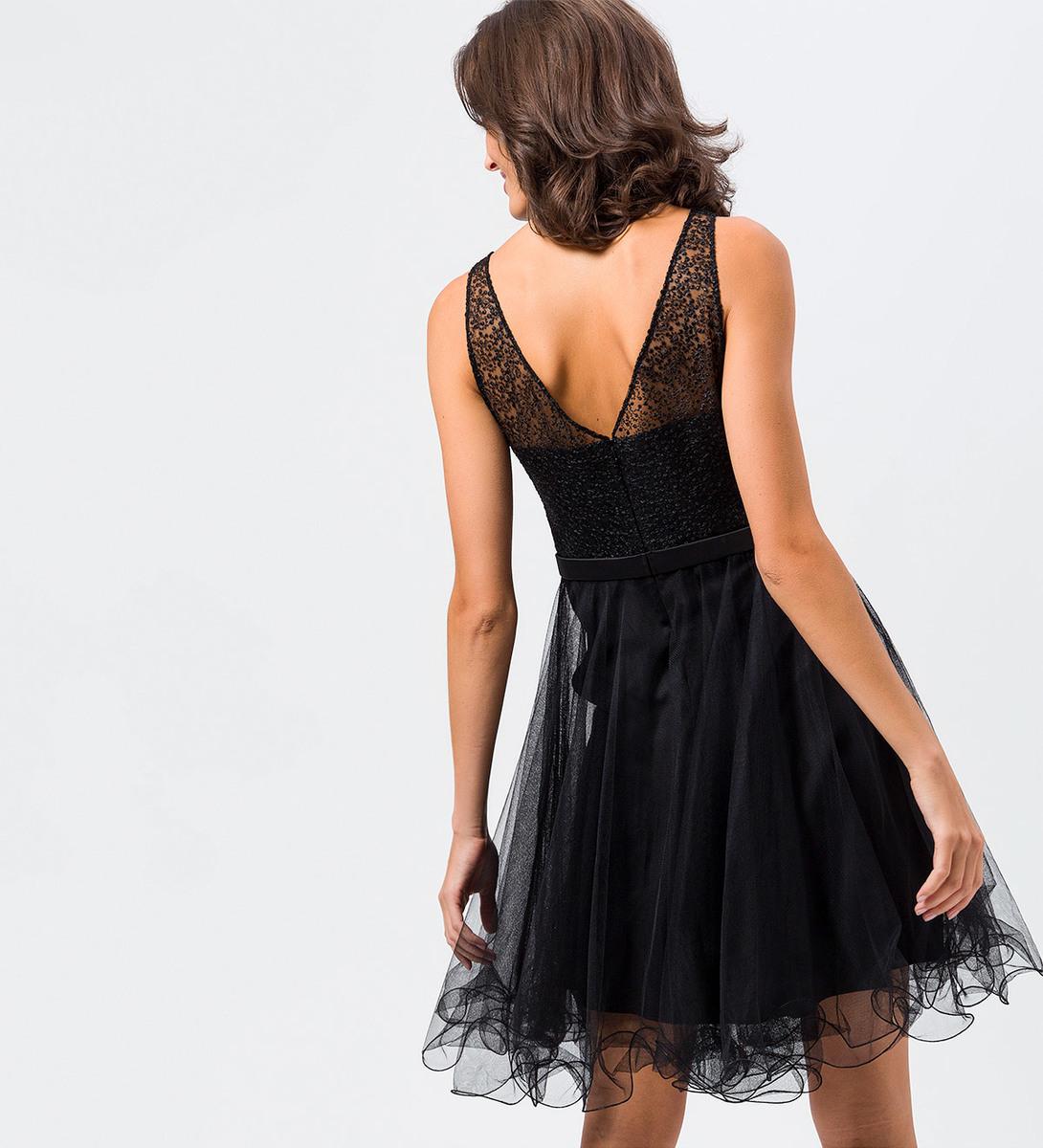 Kleid aus Tüll in black