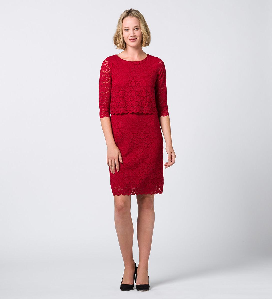 Kleid aus Spitze red flower