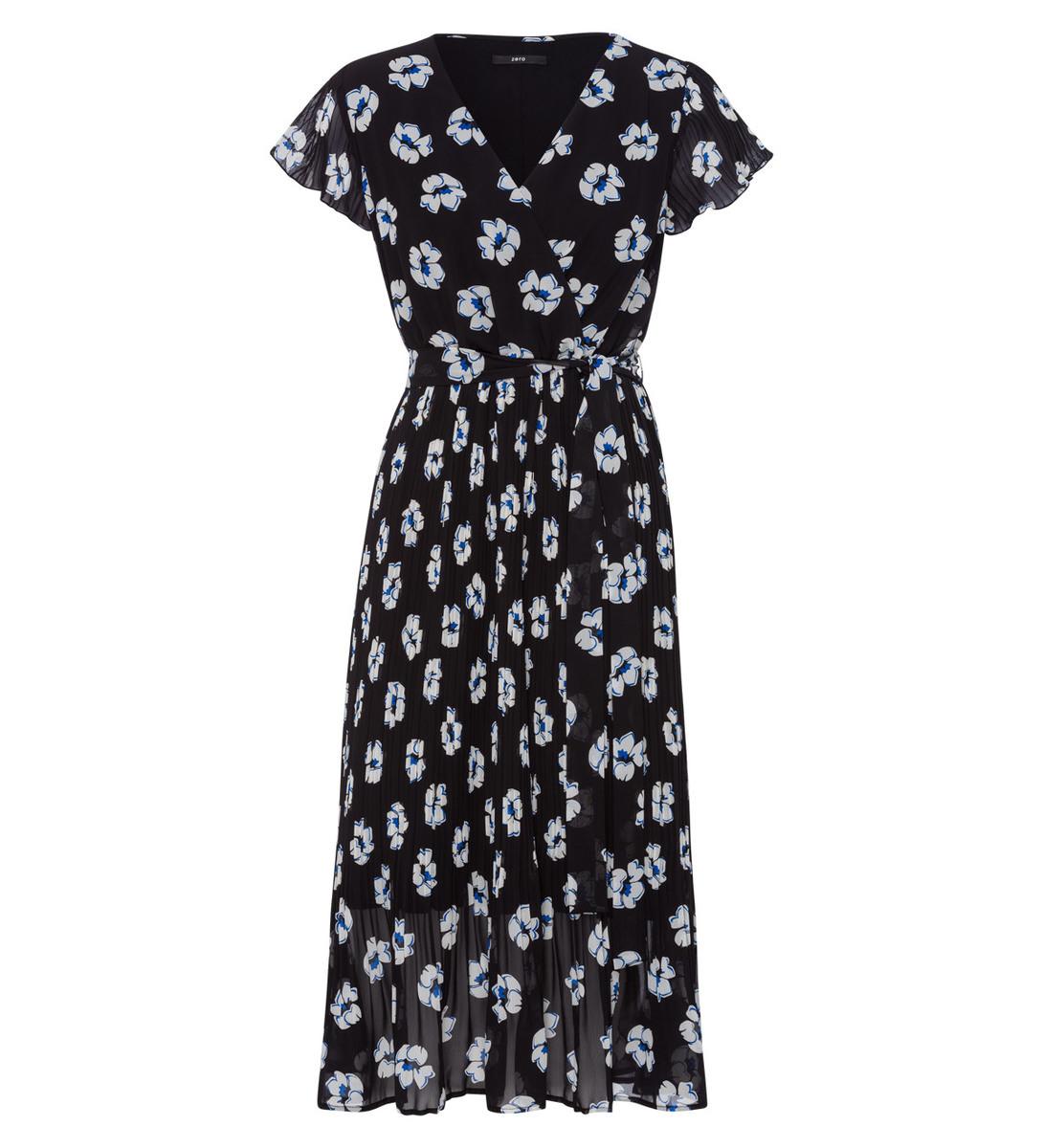 Kleid mit Plisee-Rock in black