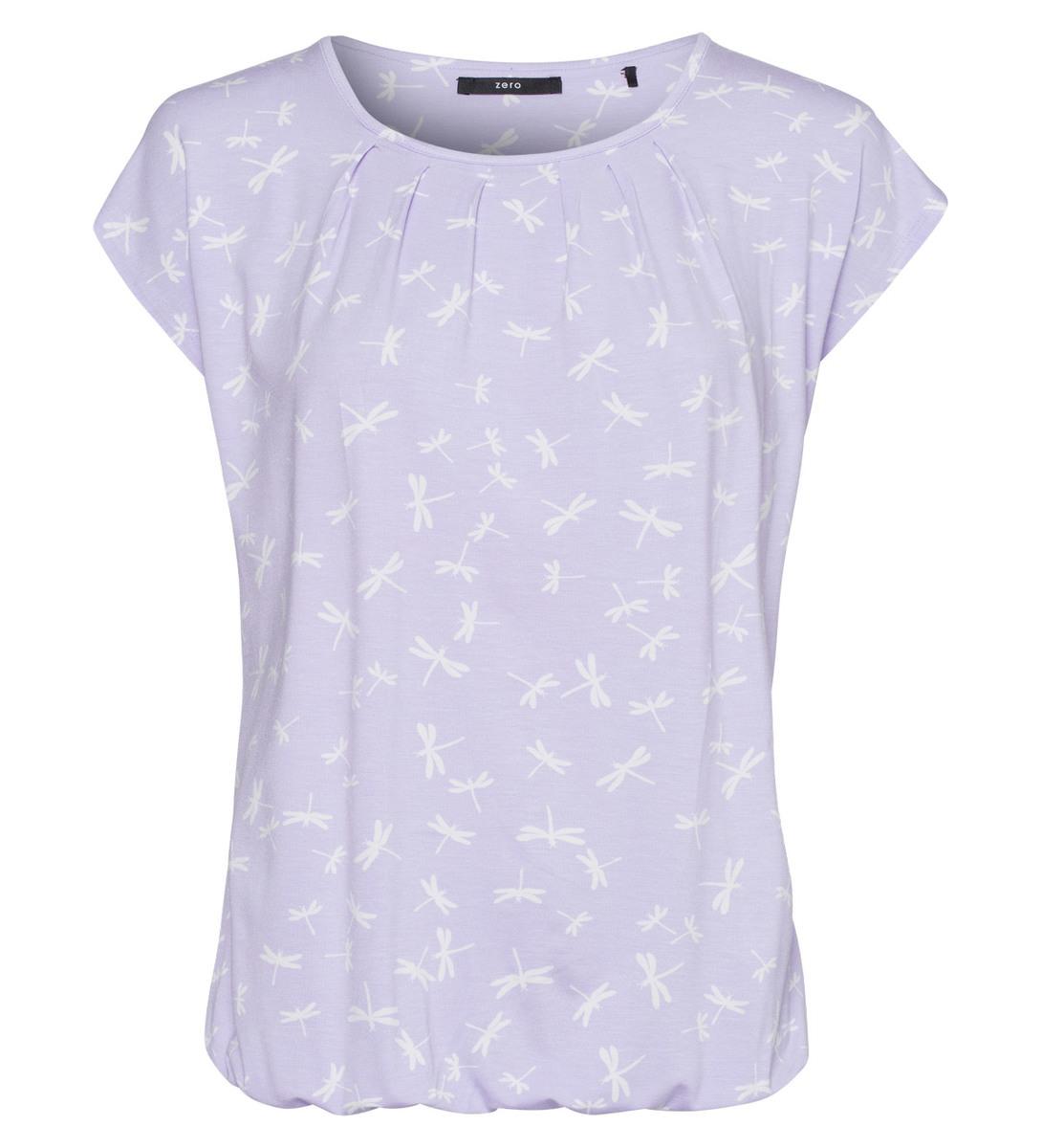Shirt mit Allovermuster in lavender