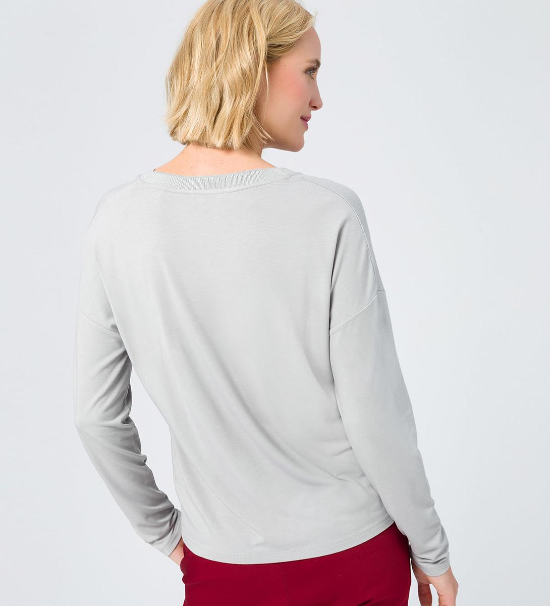 Shirt in weicher Jerseyqualität in stone grey