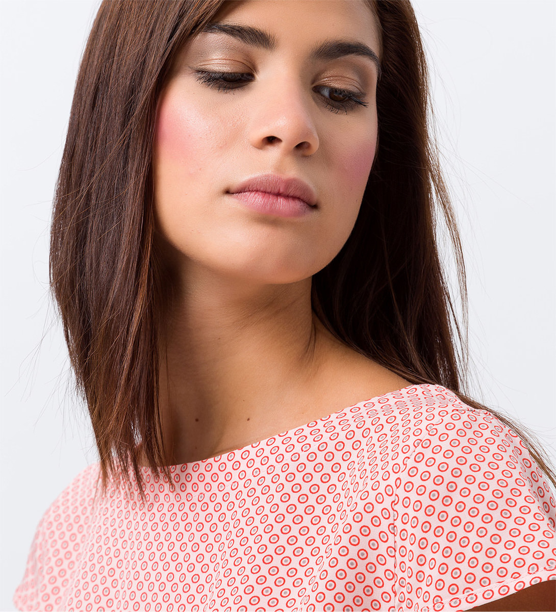Bluse mit Flügelärmeln in soft rose
