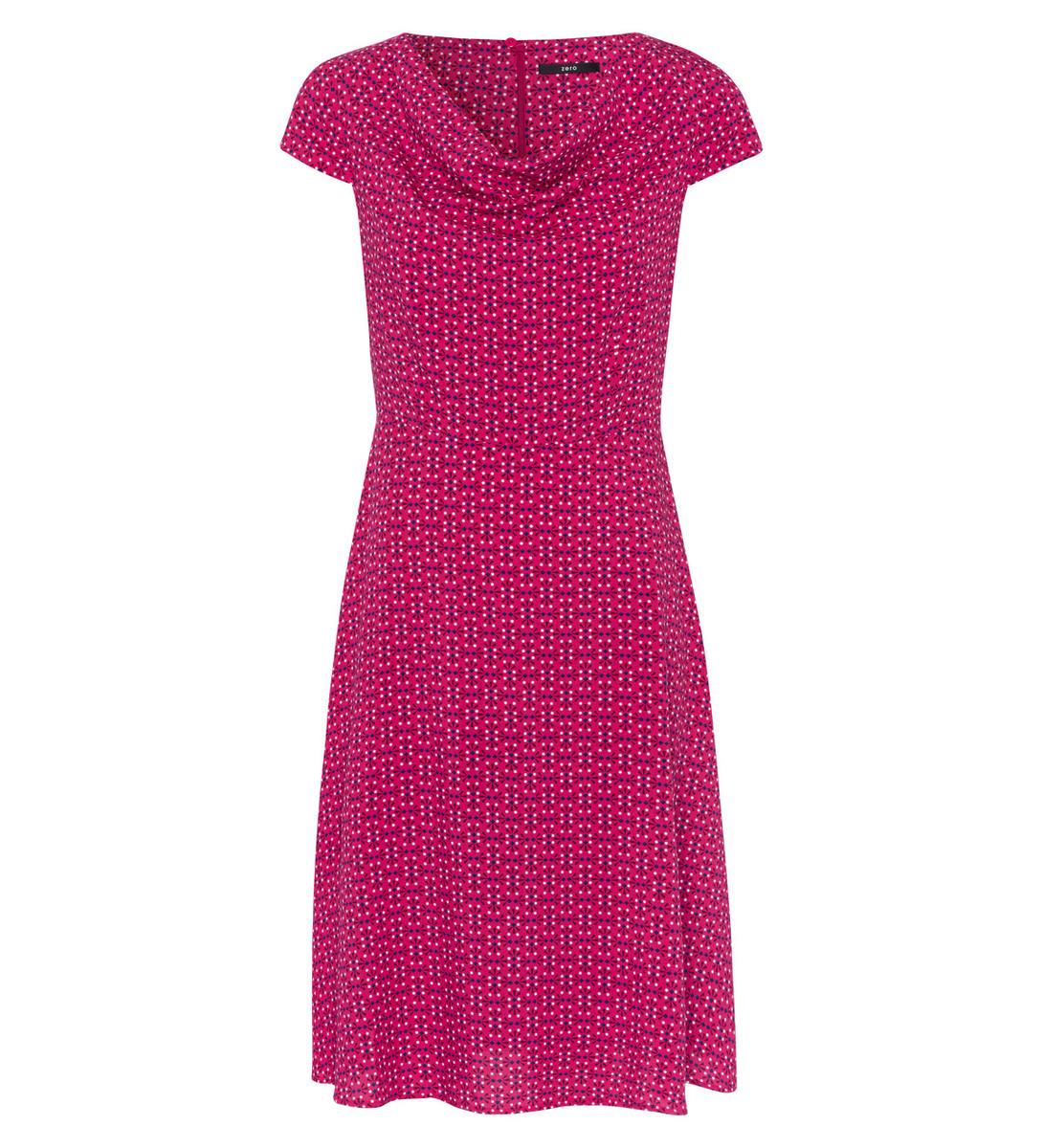 Kleid mit Alloverprint in bright pink