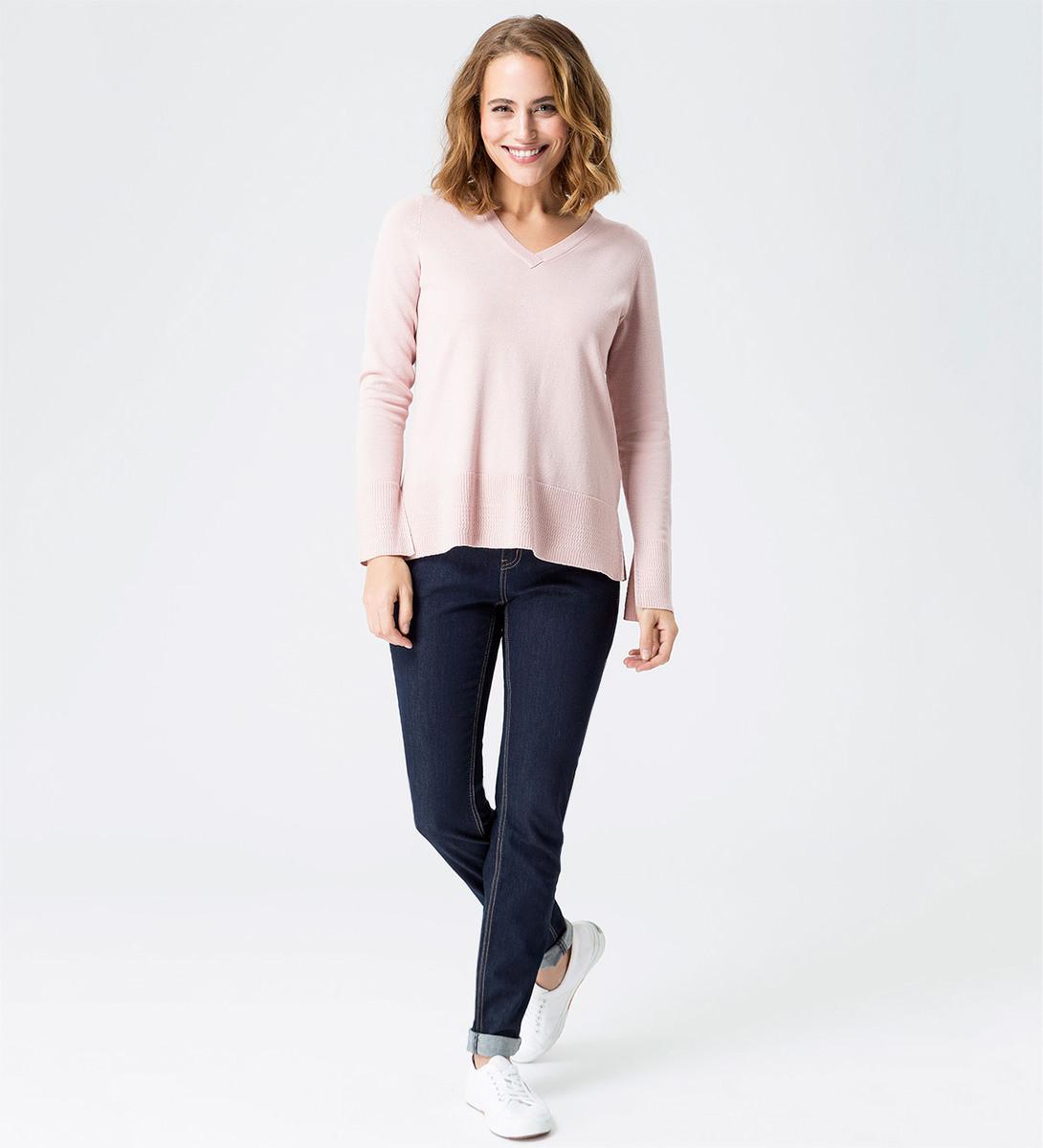 Pullover in feiner Strickqualität in rose parfait