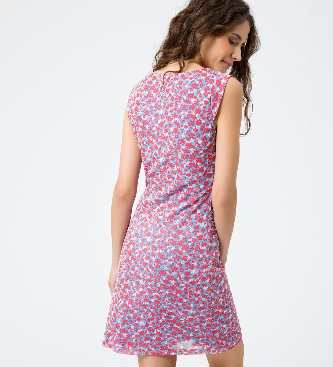 Kleid mit floralem Muster in blue wave