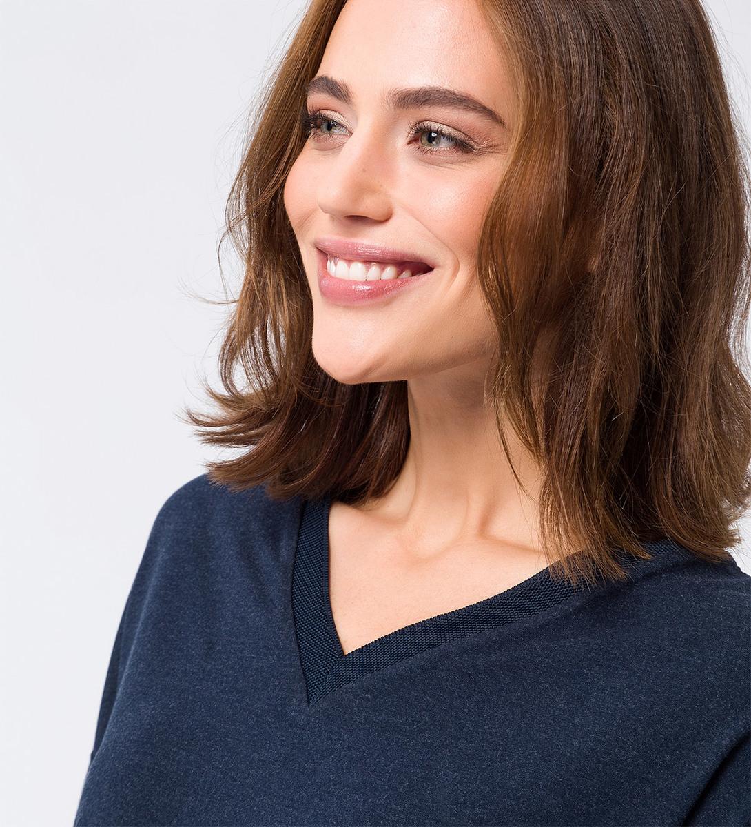 Shirt in weicher Jerseyqualität in blue black