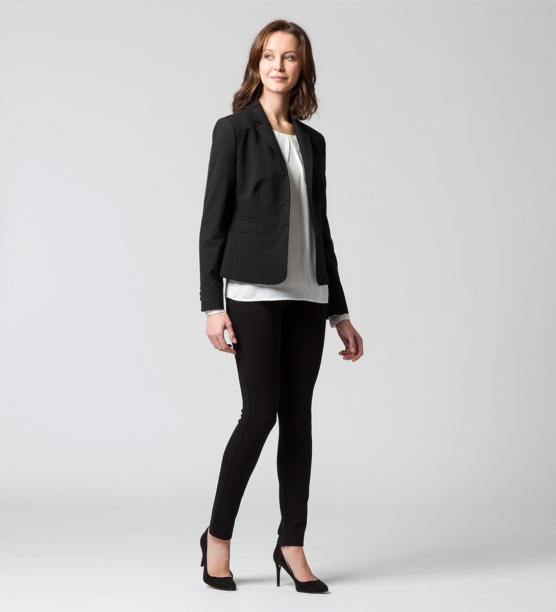 Blazer im Classic-Look in black