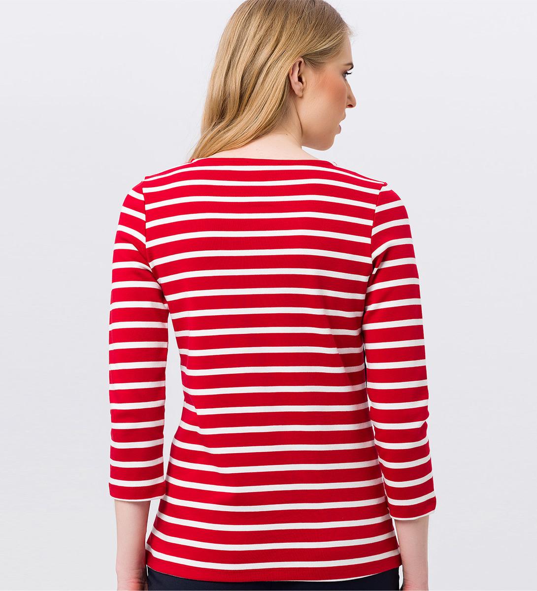 Sweatshirt mit Streifen in red