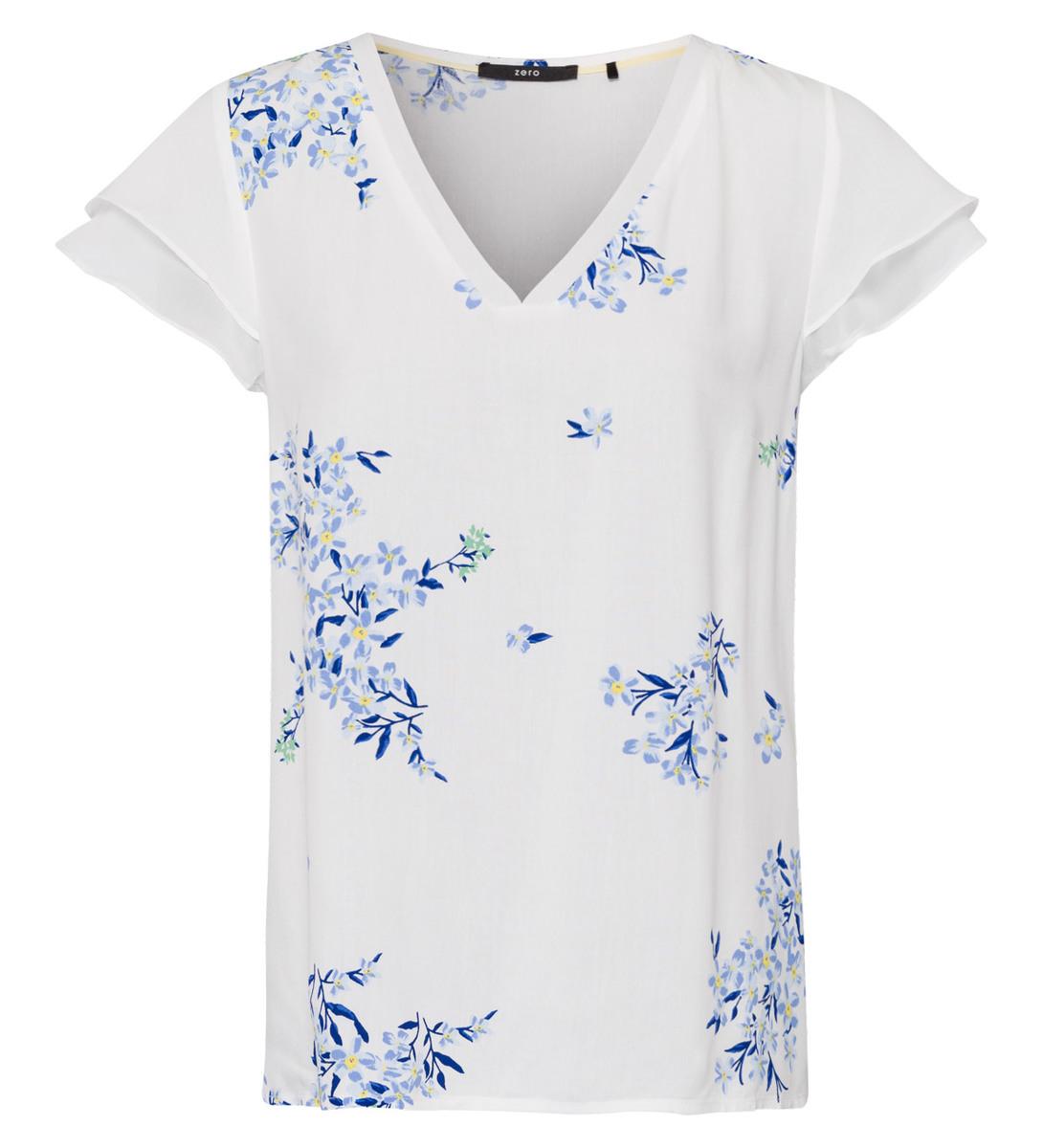 Bluse mit Blumenprint in offwhite