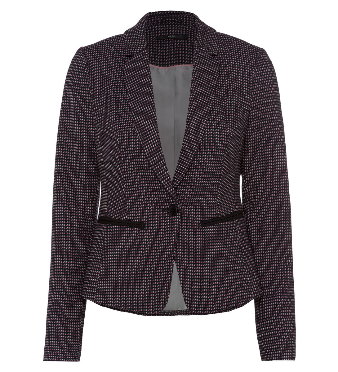 Blazer mit Webmuster in black