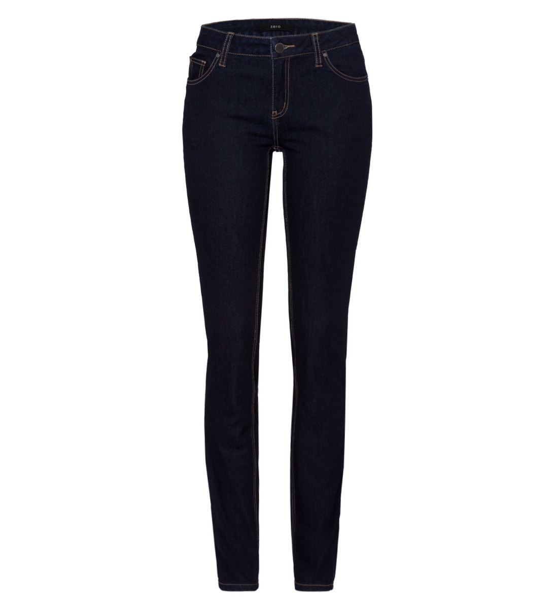 Jeans skinny fit 34 Inch in dark blue rinsed washed