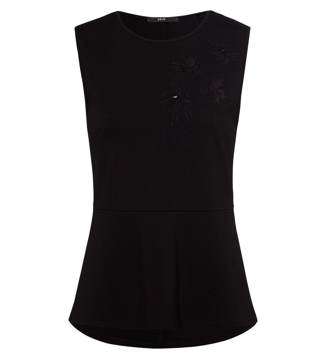 T-Shirt mit Pailletten in black